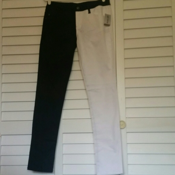 71323c2708 Half Black Half White Skinny Jeans